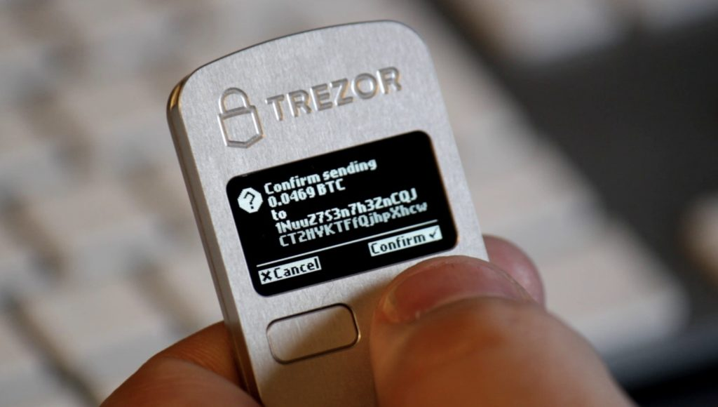 Address display on Trezor One