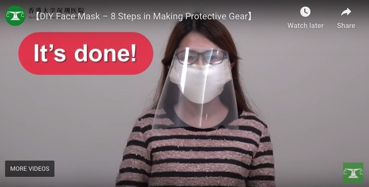 DIY face mask and protective gear